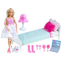 Panenka s postelí a příslušenstvím Inlea4Fun ANLILY DREAM BEDROOM