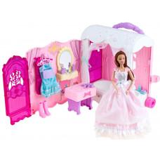 Rozkladací domeček na kolečkách s panenkou Inlea4Fun Anlily DREAM BEDROOM Preview