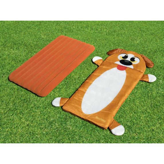 Dětská nafukovací matrace + spací vak 132 x 76 cm BESTWAY Pejsek