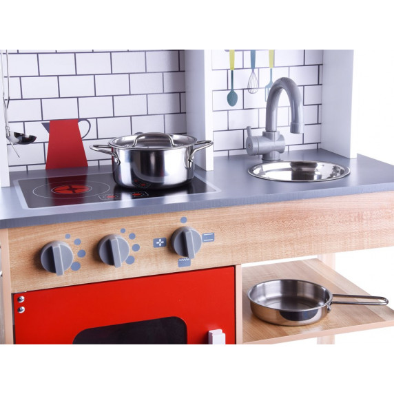Inlea4Fun Dětská dřevěná kuchyňka TERA