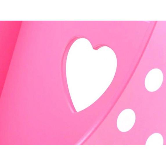 Dřevěný kočárek pro panenky Inlea4Fun PINK DOLL'S PRAM