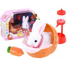 Inlea4Fun Interaktivní zajíček v košíku Moe Rabbit Preview