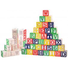Inlea4Fun dřevěné kostky WOODEN ABC-123 BLOCKS 50 kusů Preview