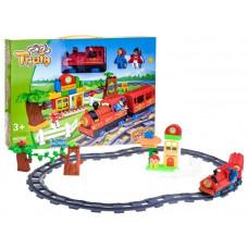 Inlea4Fun TRAIN Vlaková trať s doplňky - červená Preview