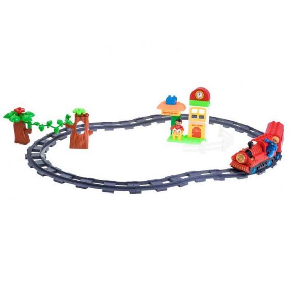 Inlea4Fun TRAIN Vlaková trať s doplňky - červená