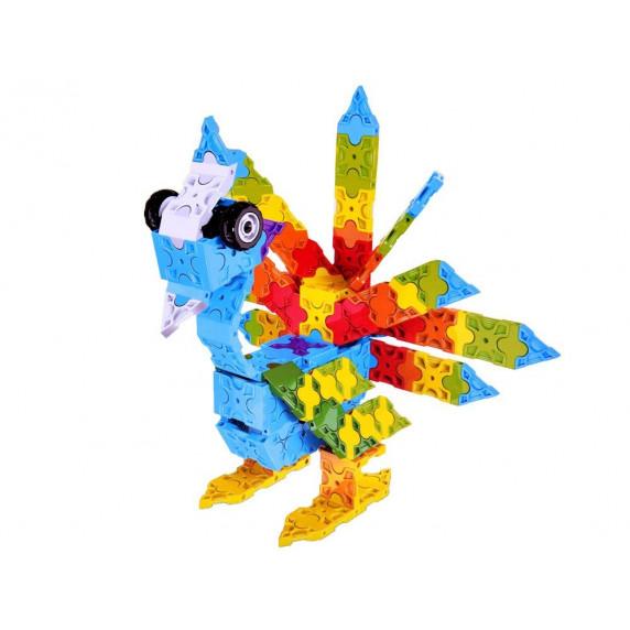 Inlea4Fun Konstrukční kreativní sada 3D ANIMAL WORLD BLOCKS 227 kusů