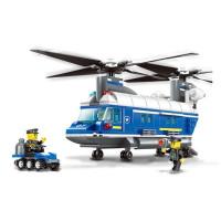 Konstrukční kreativní sada Policejní vrtulník 427 ks Inlea4Fun POLICE HELICOPTER