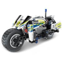 Konstrukční kreativní sada 193 kusů Inlea4Fun MECHANICAL MASTER POLICE