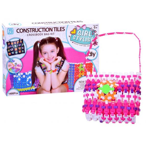 Udělej si sama! Kreativní dívčí kabelka Inlea4Fun CONSTRUCTION TILES