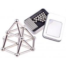Inlea4Fun Magnetické tyče a kuličky v kovové krabici 65 ks Preview