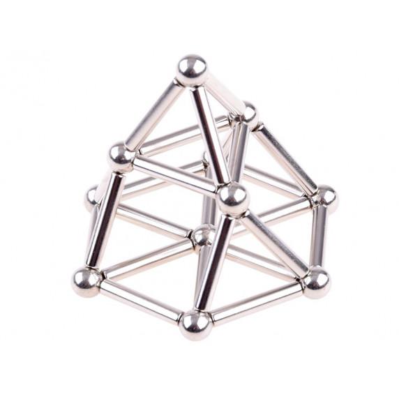 Inlea4Fun Magnetické tyče a kuličky v kovové krabici 65 ks