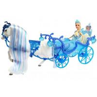 Inlea4Fun ILLUSION STATE panenka Ledová princezna s koněm a kočárem