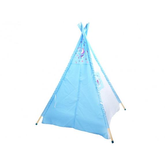 Dětský stan Inlea4Fun TENT HOUSE - jednorožec modrý
