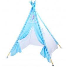 Dětský stan Inlea4Fun TENT HOUSE - jednorožec modrý Preview