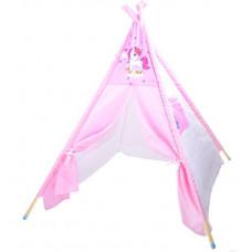 Dětský stan Inlea4Fun TENT HOUSE - jednorožec růžový Preview