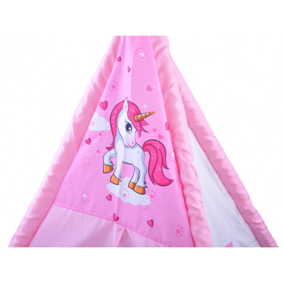 Dětský stan Inlea4Fun TENT HOUSE - jednorožec růžový