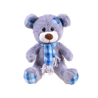 Plyšový medvídek 30 cm Inlea4Fun - šedý