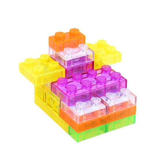Inlea4Fun Svítící kostky stavebnice ELECTRONIC BLOCKS 37 kusů