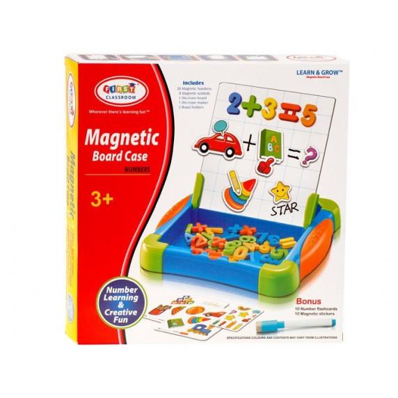 Inlea4Fun MAGNETIC BOARD CASE Magnetická tabule s číslicemi a kartičkami