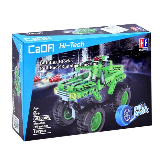Inlea4Fun Konstrukční kreativní sada CaDFI Hi-Tech Monster 182 kusů