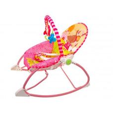 Dětské lehátko s vibracemi Inlea4Fun Toddler ROCKER - růžové Preview