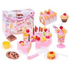 Inlea4Fun dětská krájecí dort DIY FRUIT CAKE s 75 doplňky Preview