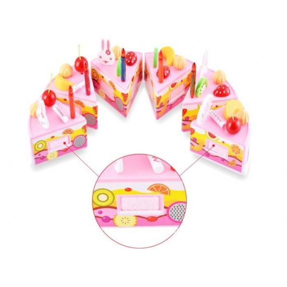 Inlea4Fun dětská krájecí dort DIY FRUIT CAKE s 75 doplňky