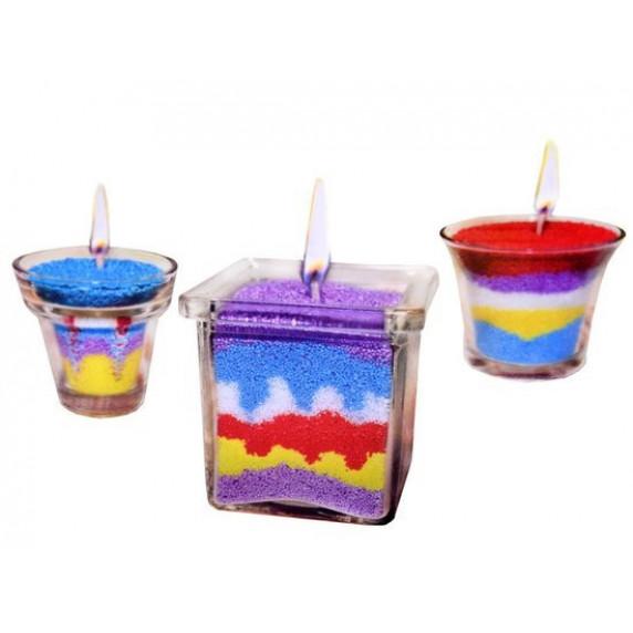 Udělej si sám kreativní barevné svíčky Inlea4Fun CANDLE MAKING