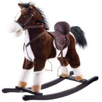 Inlea4Fun houpací koník tmavohnědý