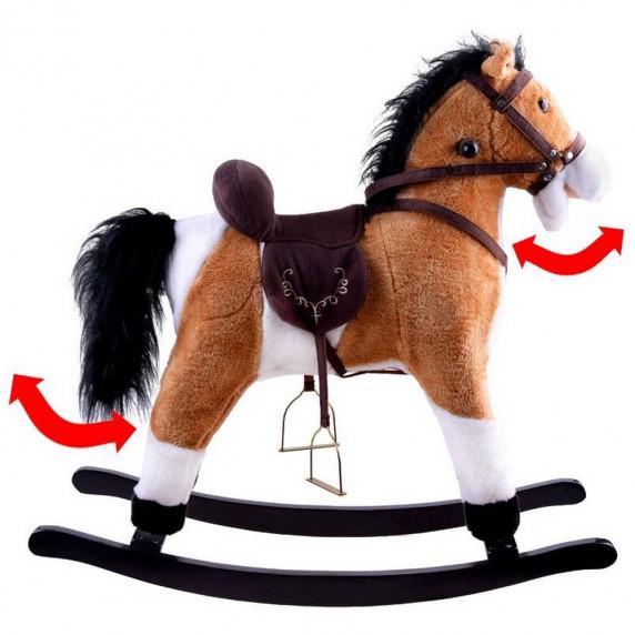 Inlea4Fun houpací koník světlehnědý