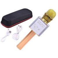 Inlea4Fun Bezdrátový karaoke mikrofon - zlatý