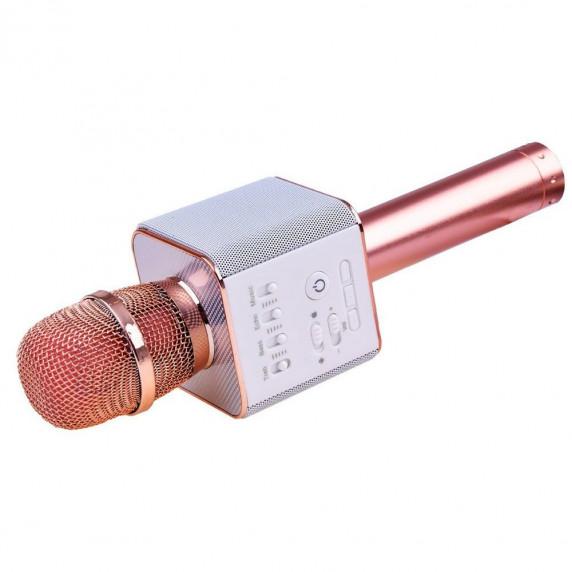 Inlea4Fun Bezdrátový karaoke mikrofon - rose gold