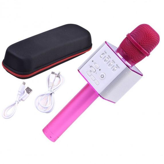 Inlea4Fun Bezdrátový karaoke mikrofon - růžový