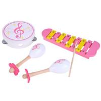 Inlea4Fun MUSIC SET Dětské dřevěné hudební nástroje 3v1