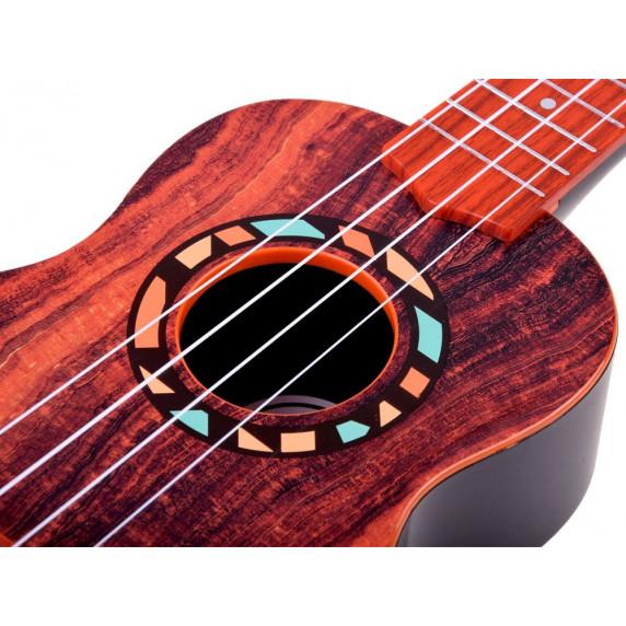 Inlea4Fun Ukulele s řemínkem UKULELES MUSICIAN - imitace dřeva