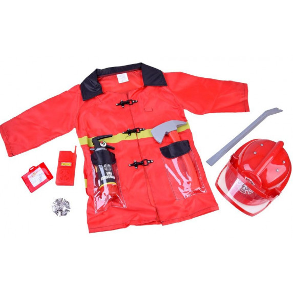 Inlea4Fun Dětský kostým Hasič