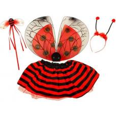 Inlea4Fun Dětský kostým Beruška s křídly Preview