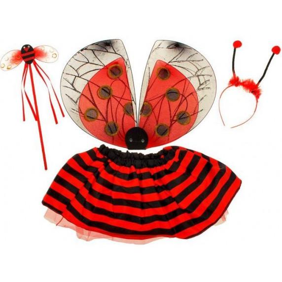 Inlea4Fun Dětský kostým Beruška s křídly