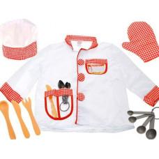 Inlea4Fun Dětský kostým Šéfkuchař Preview