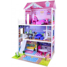 Inlea4Fun Dřevěný domeček pro panenky s LED světlem Betty Preview