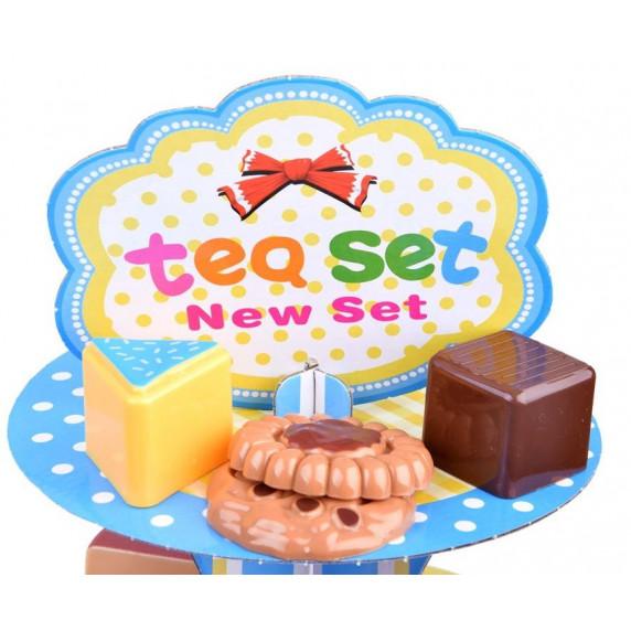 Inlea4Fun Tea Party Stojan na zákusky s doplňky