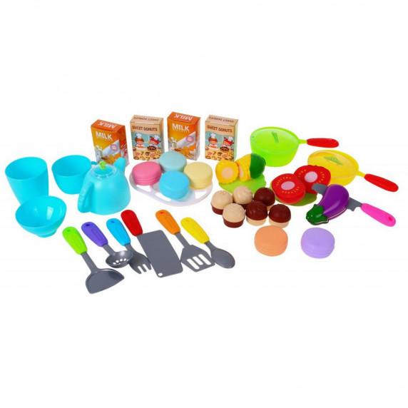 Velká dětská kuchyňka Super Šéf s tekoucí vodou Inlea4Fun + příslušenství