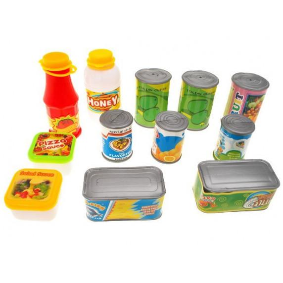 Inlea4Fun FUNNY FOOD Dětská sada potravin 52 ks