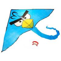Létající drak Inlea4Fun ANGRY BIRDS - modrý