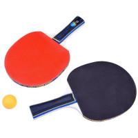 Set na stolní tenis Inlea4Fun PING PONG BALLS - 2 rakety + 3 míče + síťka