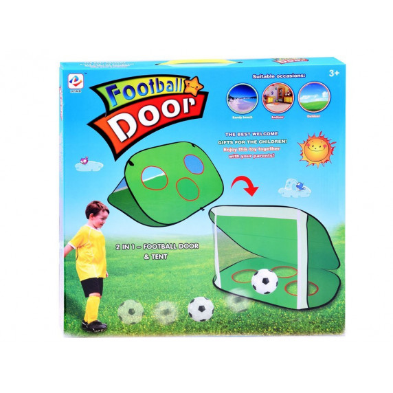 Fotbalová branka 2v1 Inlea4Fun FOOTBALL DOOR SP0523