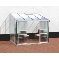 VITAVIA IDA skleník 5200 matné sklo 4 mm + PC 6 mm stříbrný