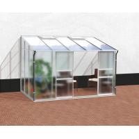 VITAVIA IDA skleník 6500 matné sklo 4 mm +PC 6 mm stříbrný
