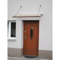 LANITPLAST stříška nad dveře TURKUS 140/85 - Hnědá
