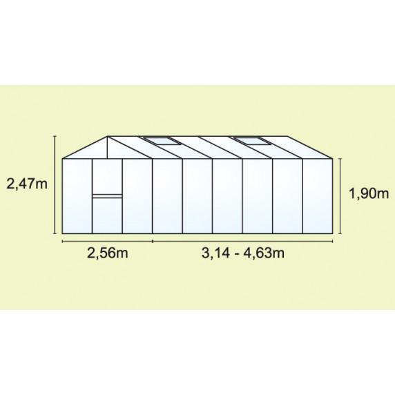 Skleník VITAVIA ZEUS 15700 PC 10+10 mm